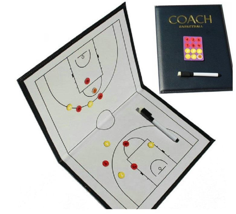 バスケ 作戦ボード 作戦盤 折りたたみA4 バスケットボール 信頼 トレンド マグネット