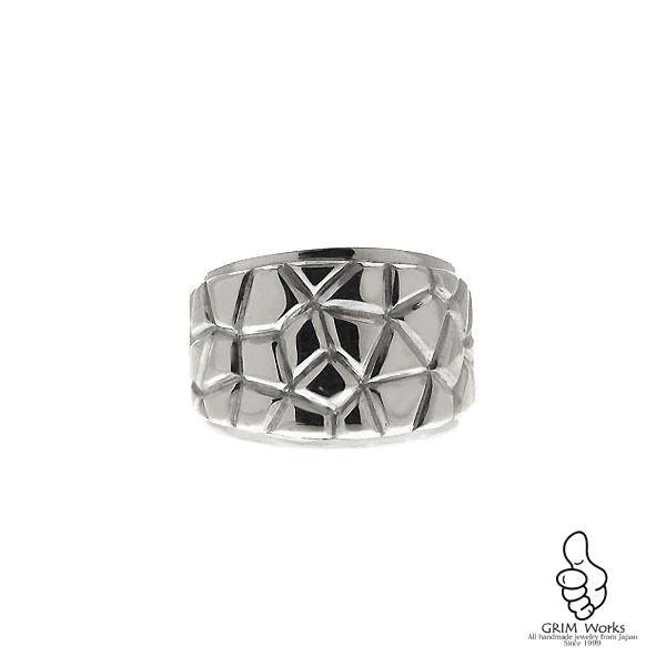 SILVER925幅広存在感満点{Wall Ring} リング 石なし 指輪 メンズ向けアイテム GRIM Works