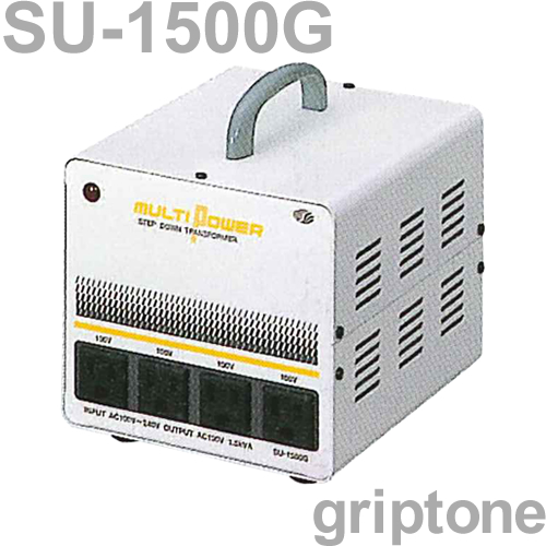 スワロー電機 4口ダウントランス SU-1500G 保証付 AC100・120・200・220・240V⇒降圧⇒100V(合計容量1500W)(og0a048)