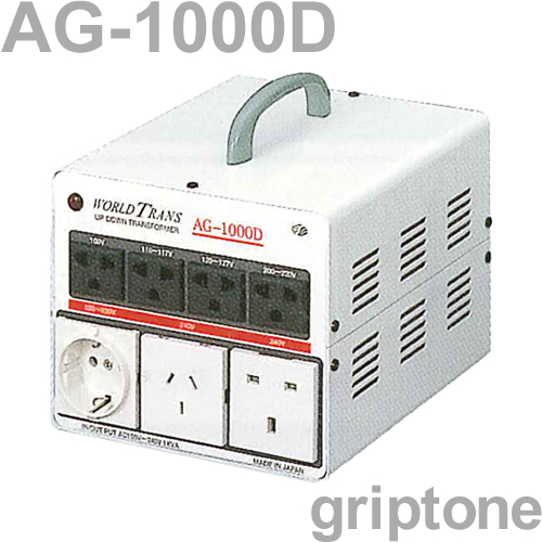 スワロー電機マルチトランスAG-1000D 保証付 AC100・110・120・200・220・240V⇔昇降圧⇔100・110・120・200・220・240V(容量1000W)(og0a001)