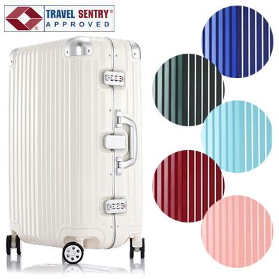 【旅行グッズ10点オマケ】スーツケース MOA(モア)63cm FLYING-1606-M TSAロック搭載 4輪 鏡面タイプ フレーム(mo0a039)[C]【選べる旅行用品10点セットプレゼント】