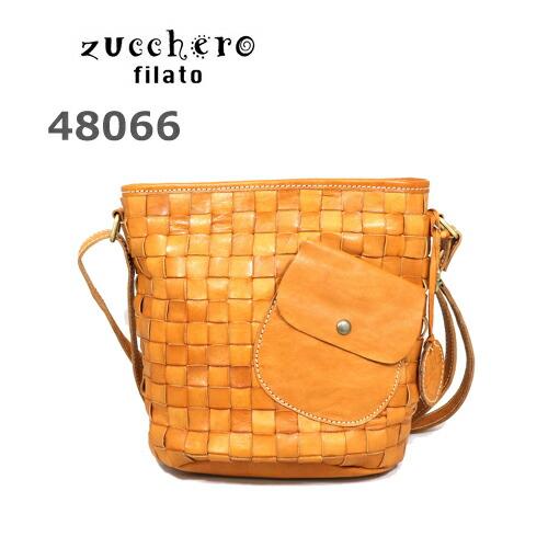 【 zucchero filato ズッケロ フィラート 】[正規品] 48066カウレザーメッシュショルダーバッグ