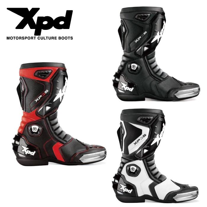 送料無料 Xpd XP3-S レーシングブーツ xpd レーシング シューズ ブーツ サーキット 舗 バイク ライディングブーツ 安全 転倒 スライダー 訳あり ツーリング レース プロテクター 通気 靴 人気 革
