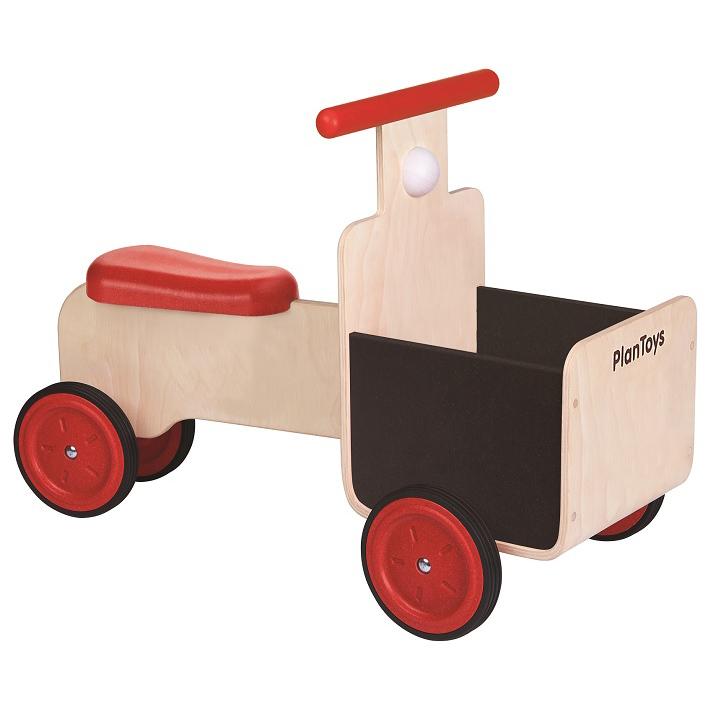 木のおもちゃ プラントイ PLANTOYS デリバリーバイク 乗物 クラクション 荷物入れ 木製玩具