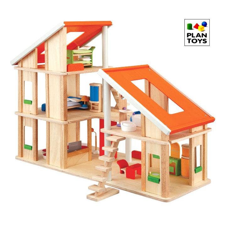 プラントイ 木のおもちゃ PLANTOYS シャレードールハウス家具付き おままごとに 木製玩具