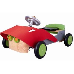プラントイ 木のおもちゃ PLANTOYS スポーツカー 室内用車 乗用玩具