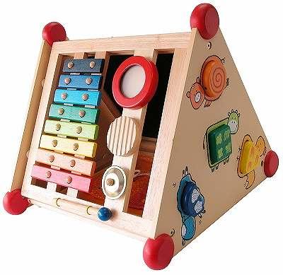 木製知育玩具 アイムトイ 指先レッスンボックス 黒板 木のおもちゃ