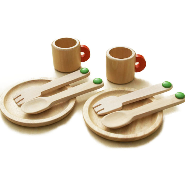 皿 スプーン 結婚祝い フォーク マグカップのセット 木のおもちゃ 木製 おままごとセット 最新アイテム 食器セット