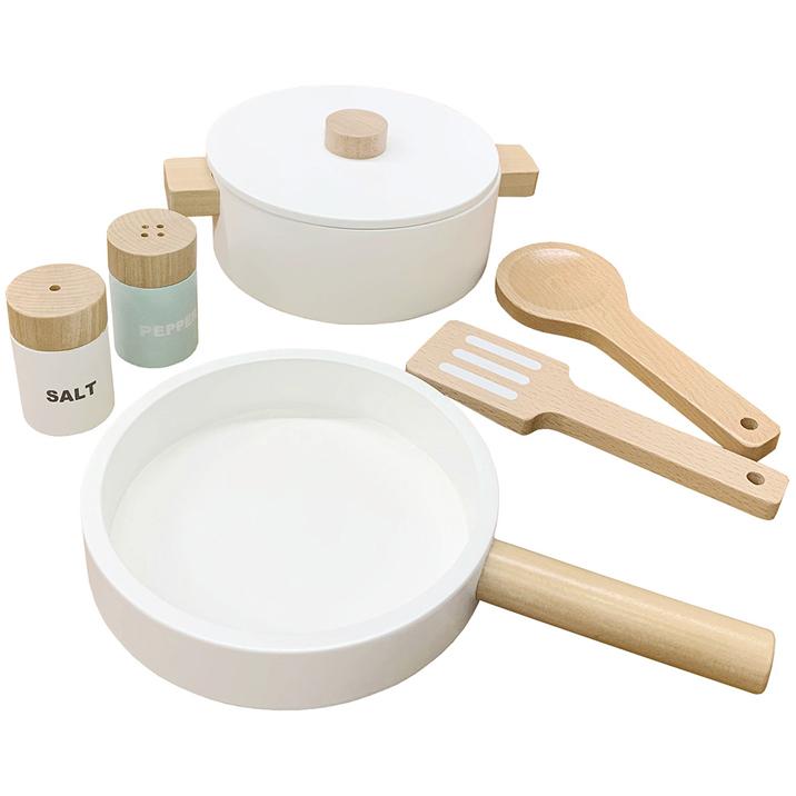 鍋 フライパン 調味料 塩 コショウ フライ返し あす楽対応 木のおもちゃ 調理用具セット おままごとセット 商品 おたまのセット 木製 ハイクオリティ