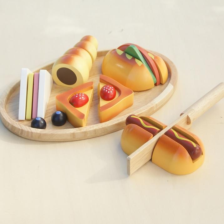 送料無料 新商品 税込 木のおもちゃ おままごとセット パン職人