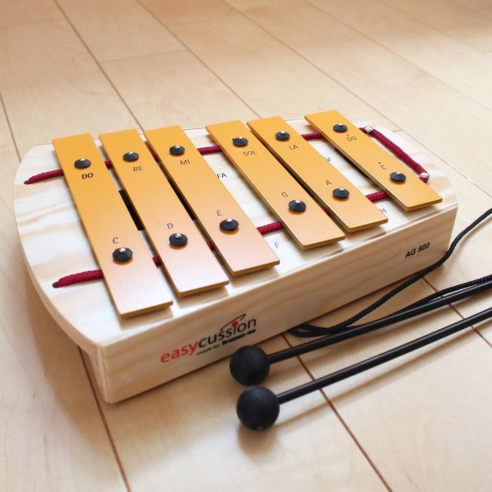 【送料無料】木のおもちゃ はじめての鉄琴 ヨナ抜き スタジオ49 STUDIO49 ドイツ製 鉄琴 ペンタグロッケン ガイドブック付 ペンタトニック 楽器玩具
