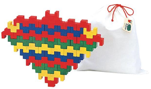 木のおもちゃ レシオ社 知育玩具 トーテム50 積み木 積木 木製玩具