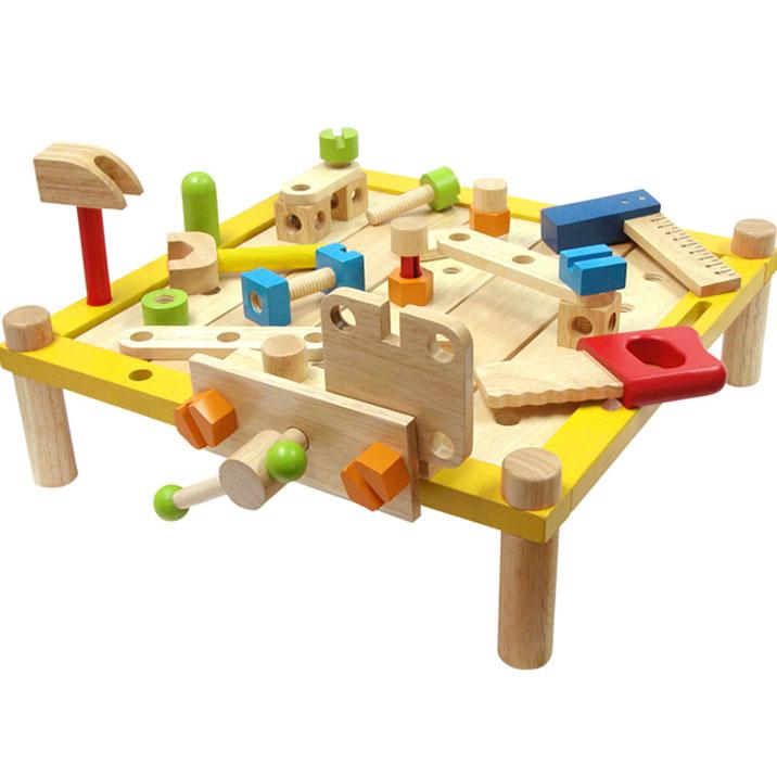 木のおもちゃ 大工さんごっこ カーペンターテーブル 男の子