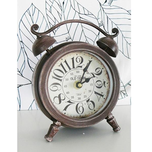 テーブルクロック ブラウン アナログ置時計 限定特価 クラシック アンティーク調 インテリア 至上 あす楽対応