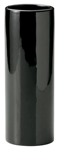 フラワーベース 陶器 円型 ブラック 黒 大 花器 花瓶 シンプル 【あす楽対応】