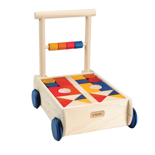 木のおもちゃ カラーつみき車50P 積み木 積木 木製玩具 知育玩具