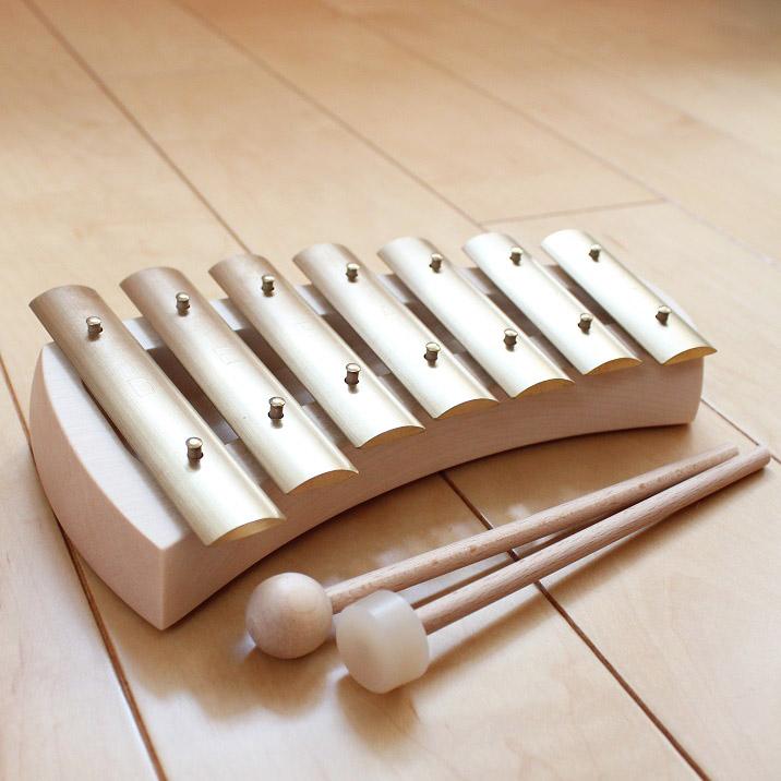 【送料無料】はじめての鉄琴 ヨナ抜き アウリス社 スウェーデン製 鉄琴 アウリスグロッケン ペンタトニック 楽譜付 楽器玩具 木のおもちゃ 【あす楽対応】