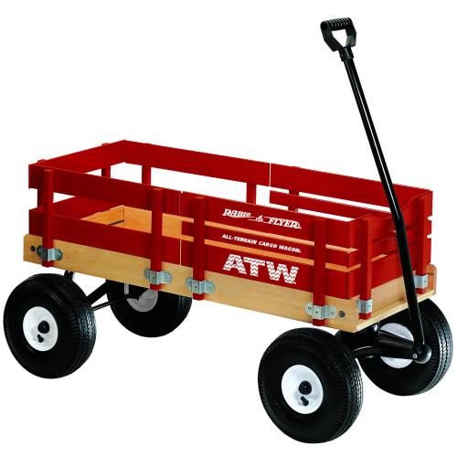 最高の品質 アメリカの乗用玩具 ATW ラジオフライヤー ATW 赤 木製カーゴワゴン 赤 レッド, KYOWA(共和)Gift&Shopping:492fd0c2 --- canoncity.azurewebsites.net