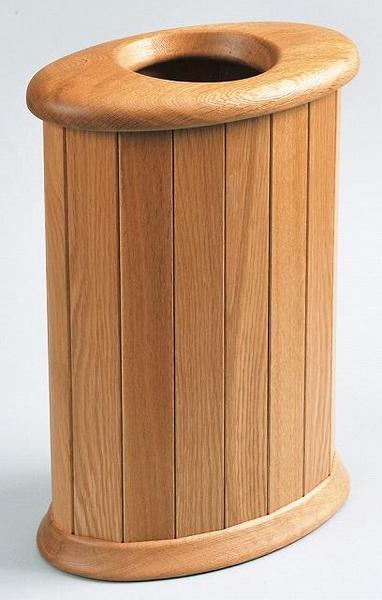 木製 天然木くずかご 楕円・大 ナチュラル ゴミ箱 日本製