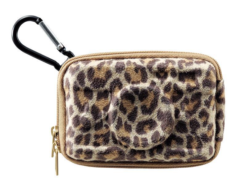 カメラ型デジカメケース ハード レパード 豹柄 贈答品 高い素材 あす楽対応 ベージュ