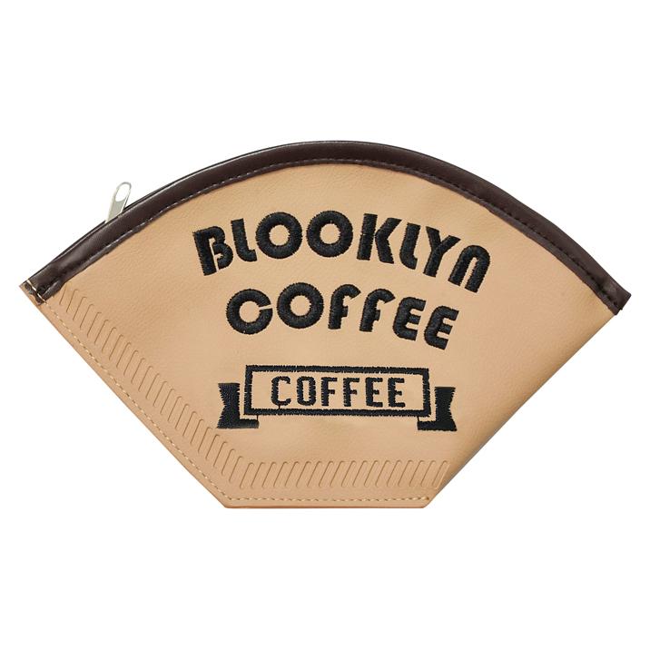 コーヒーフィルターポーチ 新品■送料無料■ BLOOKLYN 日時指定 COFFEE マルチポーチ おしゃれ かわいい 雑貨