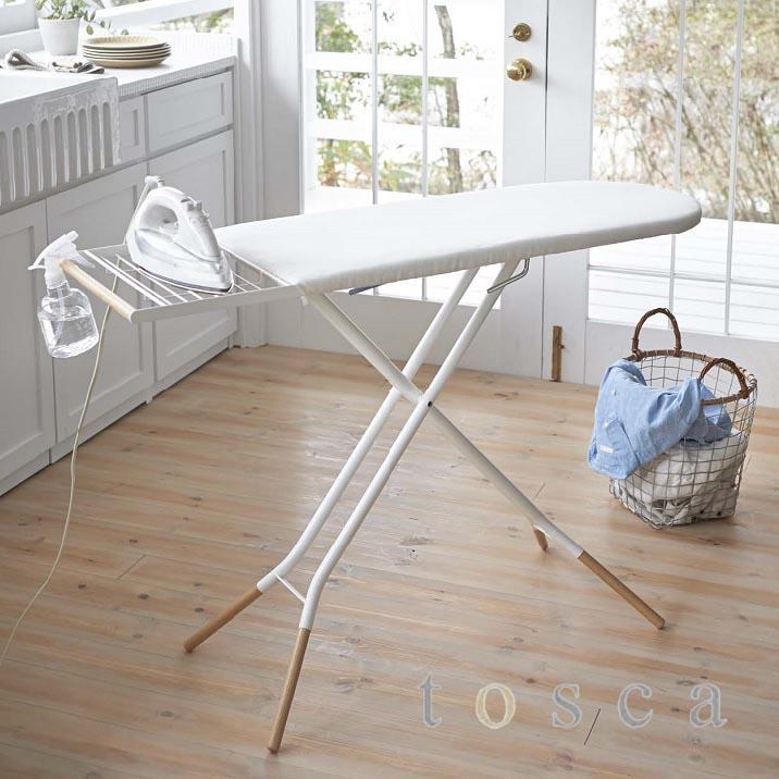アイロン台 tosca(トスカ) ホワイト 白 スタンド式 シンプル ナチュラル おしゃれ スタイリッシュ 高さ調節可 折り畳み式