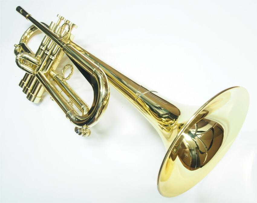 """Queen Brass(クイーンブラス)Bbトランペット 日野皓正""""Hino""""モデル・ヘビーウェイト・ラッカー仕上げ"""