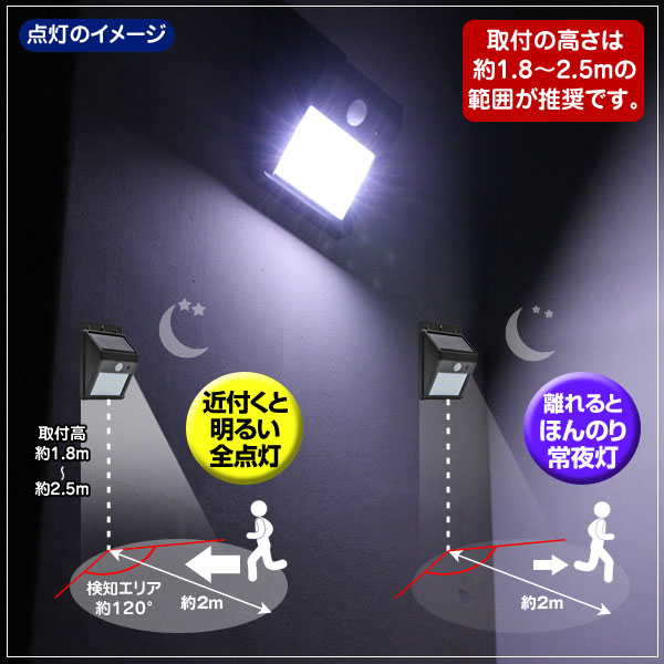 Groovy rakuten global market led solar light people sense of switch to bright all lights on and people approach them and leaving back to a dim nightlight aloadofball Image collections