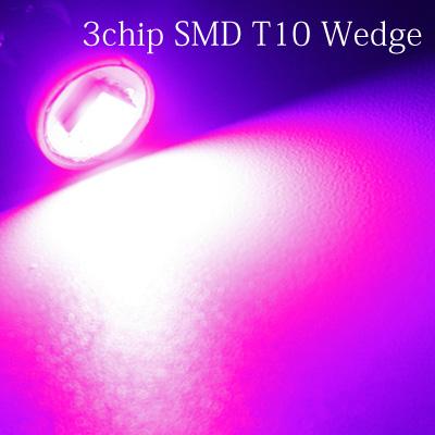 T10 3chip お気に入り SMD 単発バルブピンク 直営ストア 1個 椚