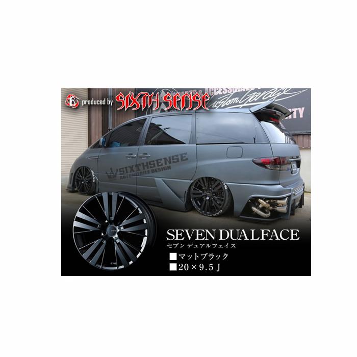 ◆【シックスセンス】 セブンデュアルフェイス 20×9.5j マットブラック 1本代引決済不可 メーカーお取り寄せ