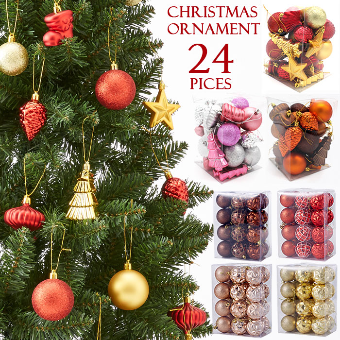 Christmas Tree Ornament Set Christmas Tree アソート Decoration Ball Drop Finial Onion Gold Red Christmas Tree Decoration North Europe Mini For