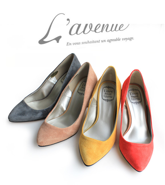 【SS50】L'avenueラヴェニュー511T1332ポインテッドトゥスウェードパンプスground靴 ポイント5倍
