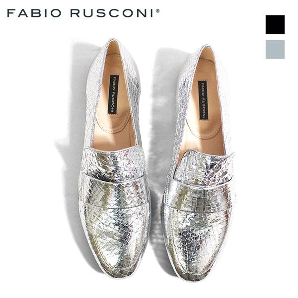 FABIORUSCONIファビオルスコーニS-3170ポインテッドトゥローファーレディースシューズブラックエナメルマニッシュground靴 ポイント5倍