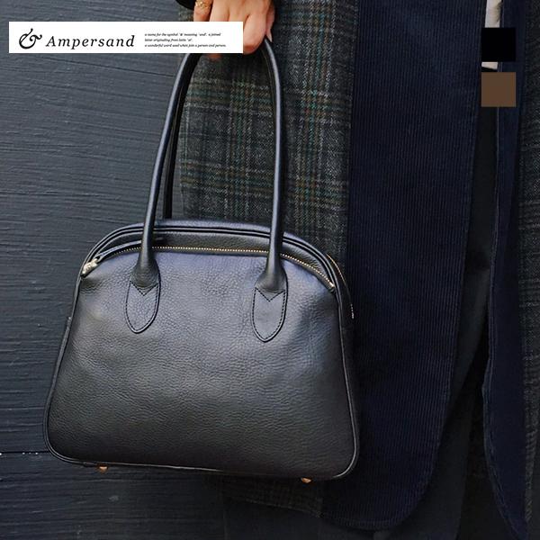 【送料無料】 ampersandアンパサンド ドクターバッグ 0219-412 ground グラウンド レザー バッグ 鞄 ブラック チョコ ブラウン【キャッシュレス5%還元対象】