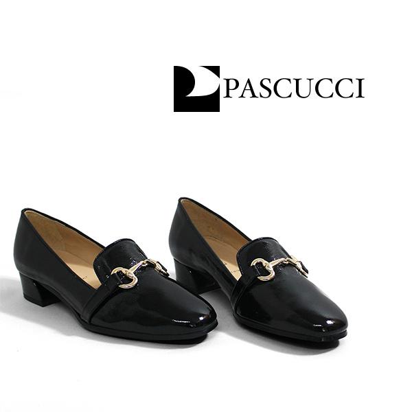 PASCUCCIパスクッチ 609-262 ビット付きエナメルマニッシュシューズ レディースシューズ ブラック マニッシュground靴 ポイント5倍