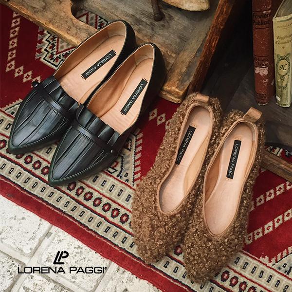 ポイント10倍LORENA PAGGI ロレーナパッジ 92203 ボアフラットシューズ ground 靴【キャッシュレス5%還元対象】レビューキャンペーン実施中