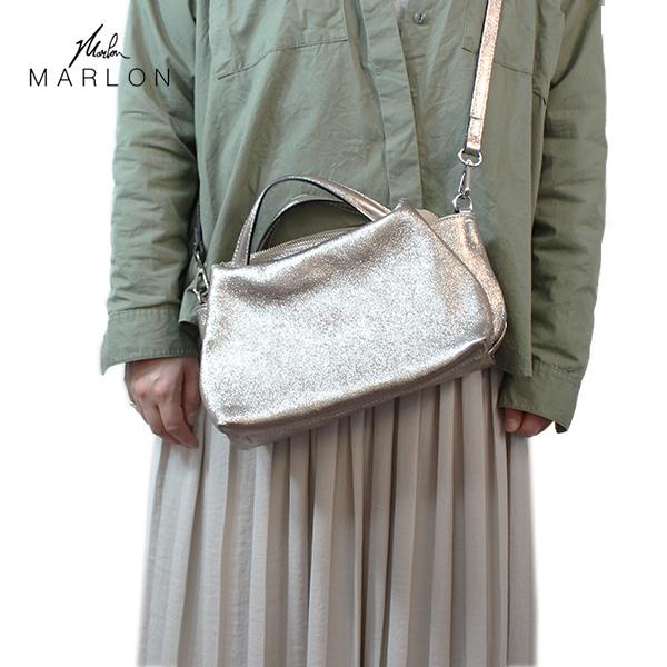 ポイント10倍MARLON マーロン 本革ミニハンドバッグ metallic メタリック ブロンズ ground 鞄 BS1270 【キャッシュレス5%還元対象】レビューキャンペーン実施中