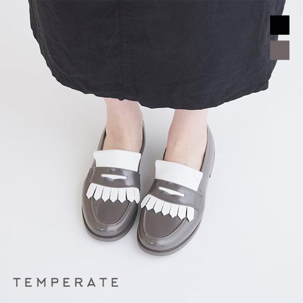TEMPERATEテンパレイト FRITZ 2020 新作 レインローファ おしゃれ レインパンプス レビューキャンペーン実施中 レインシューズ ground レディース 最安値に挑戦 靴