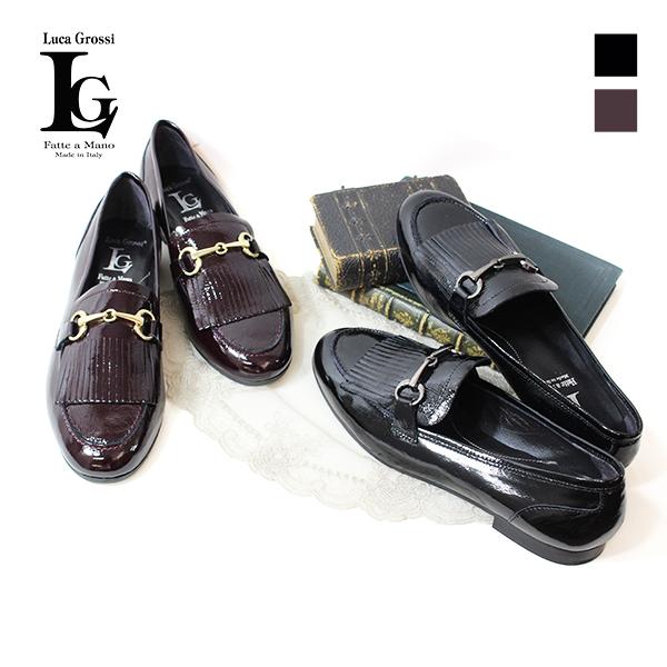 ビット付きフリンジローファー エナメル ブラック G150M 靴 ground LucaGrossi ルカグロッシ レビューキャンペーン実施中 ボルドー
