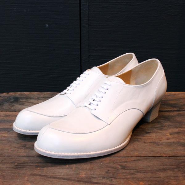 chausserショセC-2235キルト付きパンプスホワイトground靴 ポイント5倍