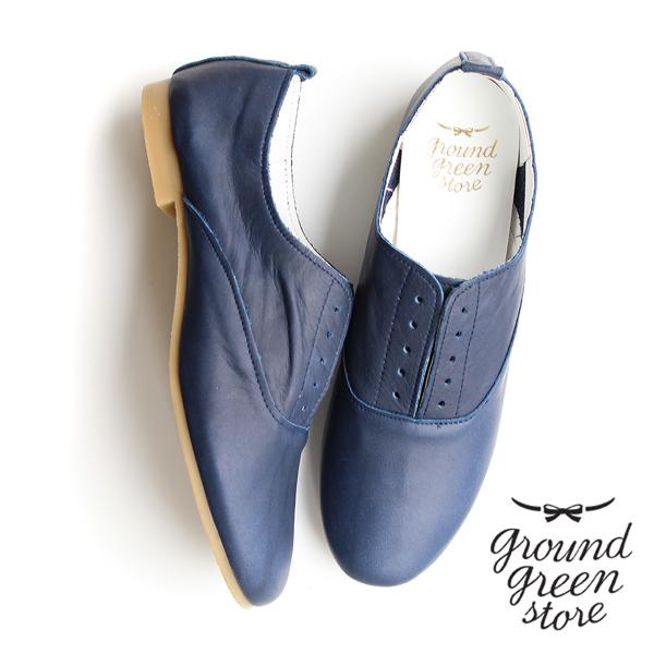 【SS20】groundgreenstoreグラウンドグリーンストア15113Hノーレースシューズネイビーground靴 ポイント5倍