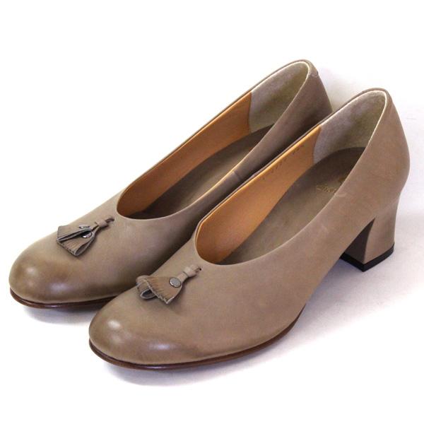 chausserショセC-2222サケットモチーフ付きパンプスグレイground靴 ポイント5倍