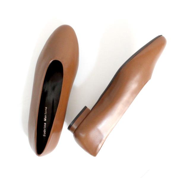 【SS40】SabrinaMartoneサブリナマルトーネ15804ラウンドトゥフラットシューズベージュground靴 ポイント5倍