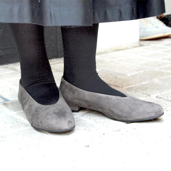 【SS40】SabrinaMartoneサブリナマルトーネ15804ラウンドトゥフラットシューズグレイground靴 ポイント5倍