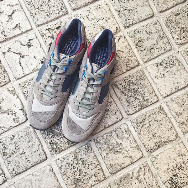 レビューキャンペーン実施中 REPRODUCTIONOFFOUNDリプロダクションオブファウンド1300FSFrenchTrainerフレンチトレーナーミリタリースニーカーグレイメンズレディースground靴