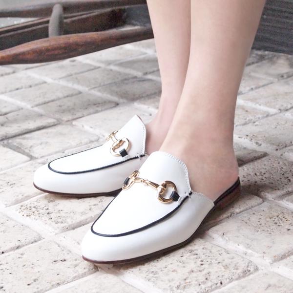 【SS30】PASCUCCIパスクッチ781ビットスリッパサンダルホワイトground靴 ポイント5倍