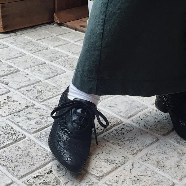 【2018秋冬】CHIEMIHARAチエミハラNERU異素材合わせブーティブラックground靴 ポイント5倍