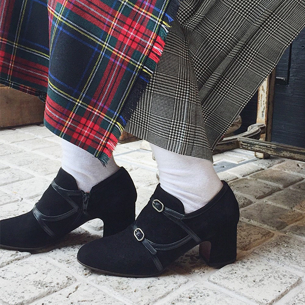 【2018秋冬】CHIEMIHARAチエミハラNAVY細ベルトダブルモンクブーティブラックground靴 ポイント5倍