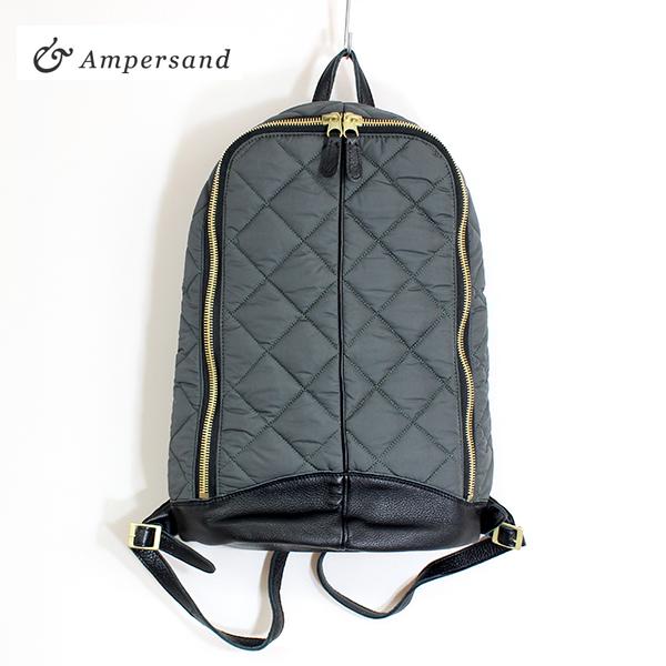 【2018秋冬】Ampersandアンパサンド0716-321キルティングリュックサックグレイground鞄 ポイント5倍