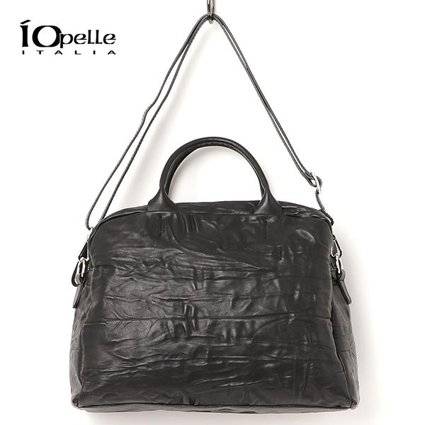 【2018秋冬】IO PELLE/イオペレ 281/14V LV レザーレザー2Wayラージハンドバッグ ブラック レザーバッグ|ground|鞄|